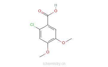 CAS:60032-95-3_2-氯-4,5-二甲氧基苯甲酸的分子结构