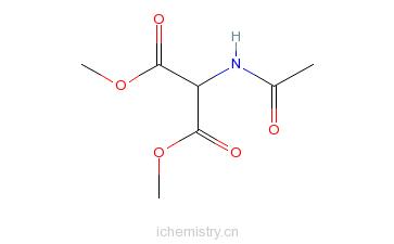 CAS:60187-67-9_乙酰氨基丙二酸二甲酯的分子结构