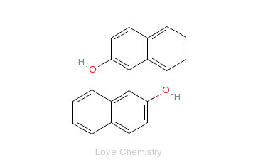 CAS:602-09-5_1,1'-联-2-萘酚的分子结构