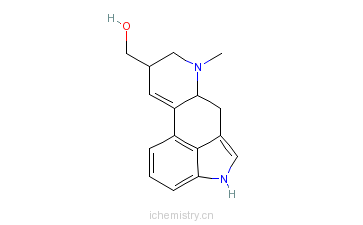 CAS:602-85-7_9,10-二脱氢-8-羟甲基-6-甲基麦角灵的分子结构