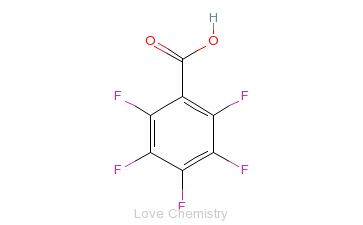 CAS:602-94-8_2,3,4,5,6-五氟苯甲酸的分子结构