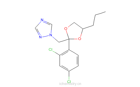 CAS:60207-90-1_丙环唑的分子结构