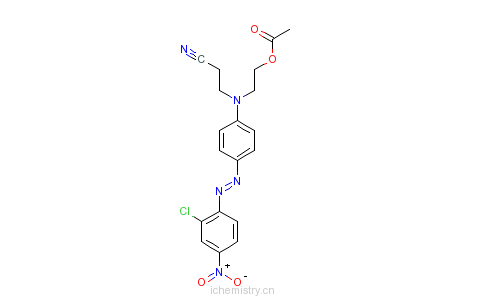 CAS:6021-61-0_分散红54的分子结构