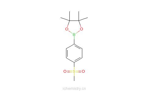 CAS:603143-27-7_4-(甲磺酰基)苯硼酸频哪醇酯的分子结构