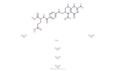CAS:6035-45-6_亚叶酸钙的分子结构