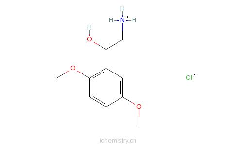 CAS:60407-53-6_ALPHA-(氨基甲基)-2,5-二甲氧基苄醇盐酸盐的分子结构
