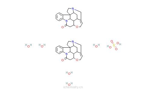 CAS:60491-10-3_无水硫酸士的宁的分子结构