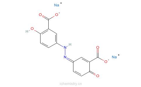 CAS:6054-98-4_奥沙拉秦钠的分子结构