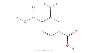 CAS:60728-41-8_2-氨基对苯二甲酸甲酯的分子结构