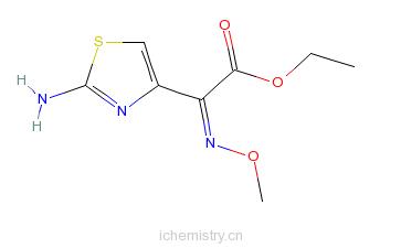 CAS:60846-15-3_2-(2-氨基-4-噻唑基)-2-(甲氧亚氨基)乙酸乙酯的分子结构