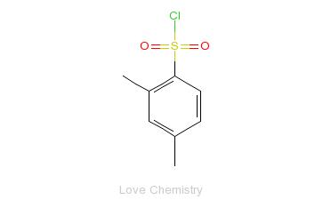 CAS:609-60-9_2,4-二甲基苯磺酰氯的分子结构