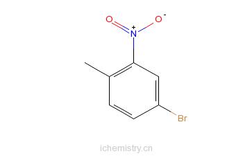 CAS:60956-26-5_4-溴-2-硝基甲苯的分子结构