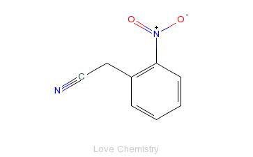 CAS:610-66-2_邻硝基苯乙腈的分子结构