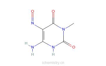 CAS:61033-04-3_6-氨基-5-亚硝基-3-甲基尿嘧啶的分子结构