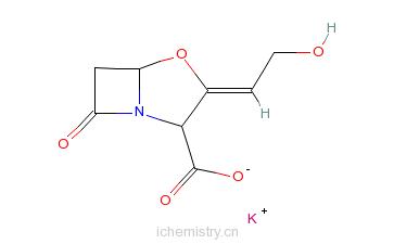 CAS:61177-45-5_克拉维酸钾的分子结构