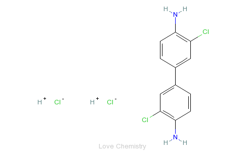 CAS:612-83-9_3,3'-二氯联苯胺盐酸盐的分子结构