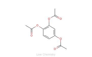 CAS:613-03-6_1,2,4-苯三酚醋酸酯的分子结构