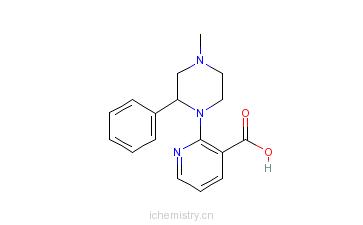 CAS:61338-13-4_米氮平酸的分子结构