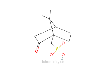 CAS:61380-66-3_L-(+)-樟脑磺酸的分子结构
