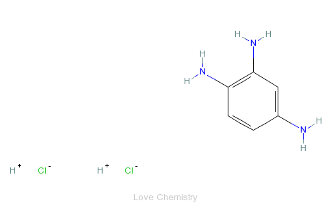 CAS:615-47-4_1,2,4-三氨基苯盐酸的分子结构