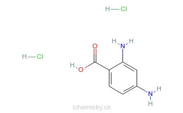 CAS:61566-58-3_2,4-二氨基苯甲酸二盐酸盐的分子结构