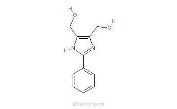 CAS:61698-32-6_4,5-二(羟甲基)-2-苯基-1H-咪唑的分子结构