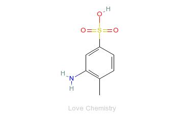 CAS:618-03-1_2-氨基甲苯-4-磺酸的分子结构