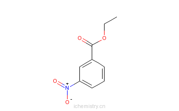 CAS:618-98-4_间硝基苯甲酸乙酯的分子结构