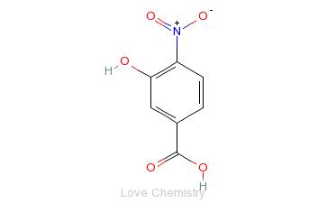 CAS:619-14-7_3-羟基-4-硝基苯甲酸的分子结构