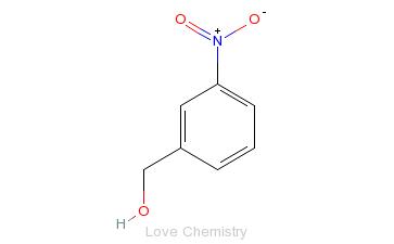 CAS:619-25-0_3-硝基苯甲醇的分子结构