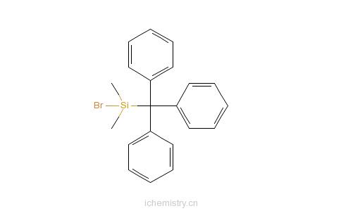CAS:62092-85-7_二甲基三苯甲基溴硅烷的分子结构