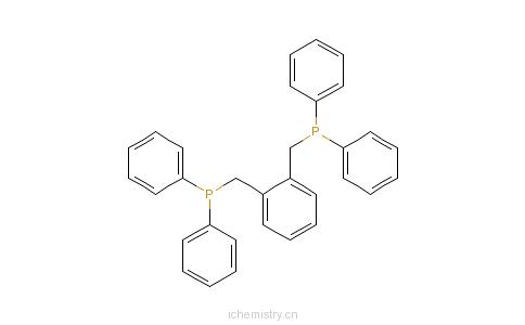 CAS:62144-65-4_1,2-双(联苯代磷甲基)-苯的分子结构