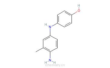 CAS:6219-89-2_4-[(4-氨基-间甲苯基)氨基]酚的分子结构