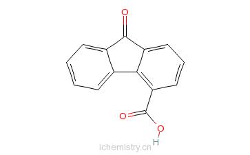 CAS:6223-83-2_9-芴酮-4-甲酸的分子结构