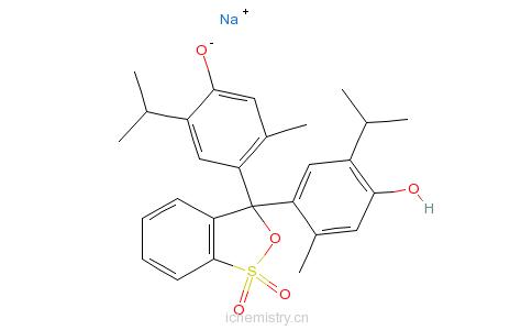 CAS:62625-21-2_百里酚蓝钠盐的分子结构