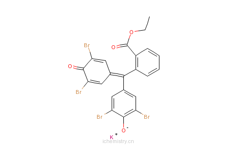 CAS:62637-91-6_四溴酚酞乙酯钾的分子结构
