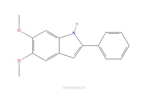 CAS:62663-26-7_5,6-二甲氧基-2-苯吲哚的分子结构
