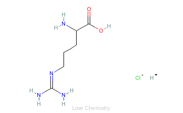 CAS:627-75-8_D-精氨酸盐酸盐的分子结构