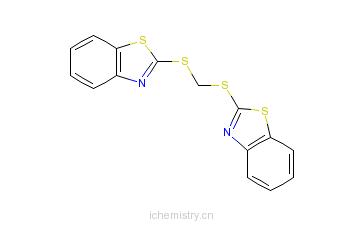 CAS:6270-36-6_2,2'-[亚甲基双(硫)]二苯并噻唑的分子结构