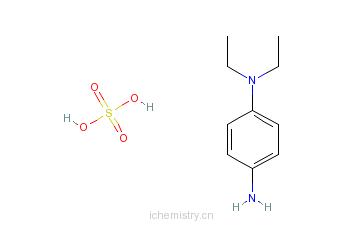 CAS:6283-63-2_对氨基二乙基苯胺硫酸盐的分子结构