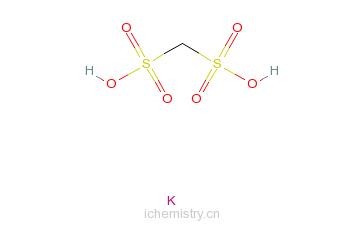 CAS:6291-65-2_甲烷二磺酸二钾盐的分子结构