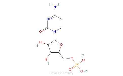 CAS:63-37-6_5'-胞苷酸的分子结构