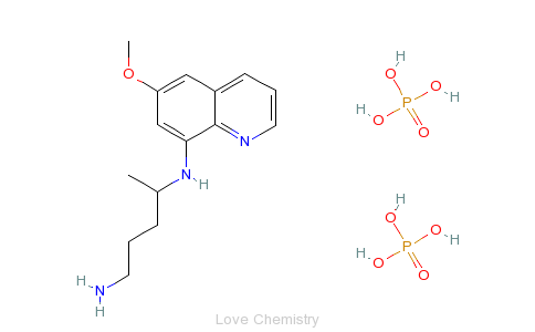 CAS:63-45-6_磷酸伯安喹的分子结构