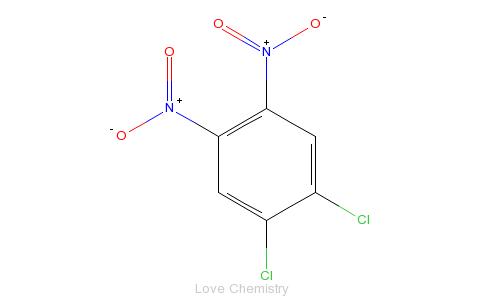CAS:6306-39-4_1,2-二氯-4,5-二硝基苯的分子结构