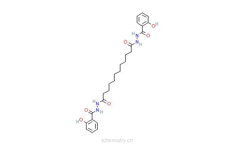 CAS:63245-38-5_十二烷二酸双[2-(2-羟基苯甲酰基)酰肼]的分子结构