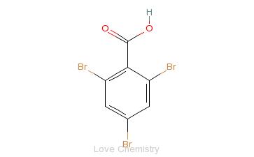 CAS:633-12-5_2,4,6-三溴苯甲酸的分子结构