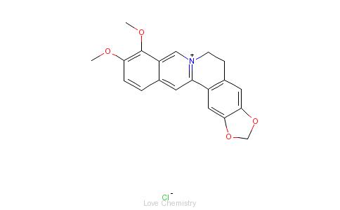 CAS:633-65-8_盐酸黄连素的分子结构