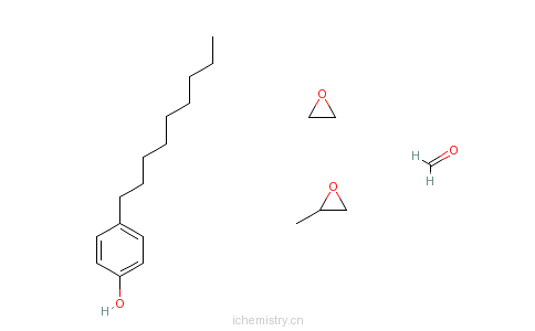 CAS:63428-92-2_甲醛与环氧丙烷|壬基酚和环氧乙烷的聚合物的分子结构