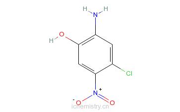 CAS:6358-02-7_2-氨基-4-氯-5-硝基苯酚的分子结构