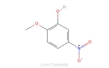 CAS:636-93-1_2-甲氧基-5-硝基苯酚的分子结构
